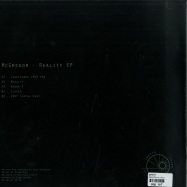 Back View : Mcgregor - REALITY EP - Depth Over Distance / DOD222