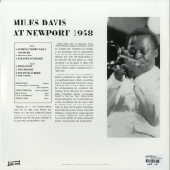Back View : Miles Davis - AT NEWPORT 1958 (LP) - Wax Love / WLV82101 / 00126691