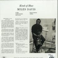 Back View : Miles Davis - KIND OF BLUE (COLOURED 180G LP) - DOL / DOL725HB / 9541189