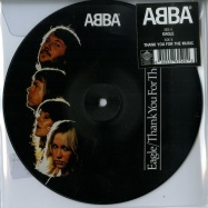 Front View : ABBA - EAGLE / THANK YOU FOR THE MUSIC (7 INCH PICTURE DISC) - Universal / 5762520
