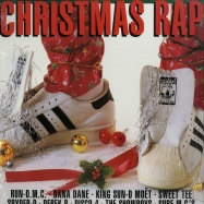 Front View : Various Artists - CHRISTMAS RAP (CLEAR RED LP) - Get On Down / GET51300LP