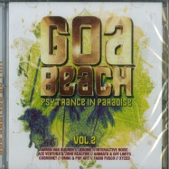 Front View : Various Artists - GOA BEACH VOL.2 - PSYTRANCE IN PARADISE (2XCD) - More Music / 8951446