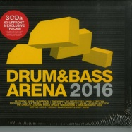 Front View : Various Artists - DRUM & BASS ARENA 2016 (3CD + MP3) - Aei Music / dnba018cd