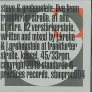 Front View : Stave & Grebenstein - LIVE FROM FRANKFURTER STRASSE (LTD WHITE VINYL) - Standards & Practices / STANPRAC004LTD
