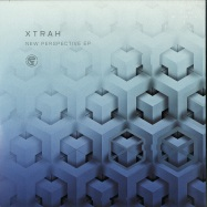 Front View : Xtrah - NEW PERSPECTIVE EP (CLEAR / BLACK 2X12 INCH) - Cyberfunk / CFNK007