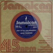 Front View : Linval Thompson - DONT CUT OFF YOUR DREADLOCK (7 INCH) - Jamaican / jr7005
