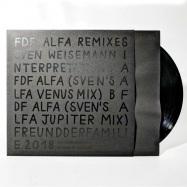 Front View : Sven Weisemann Interpretations - ALFA REMIXES 4 (BLACK IN BLACK EDITION) - Freund Der Familie / FDF ALFA 04B