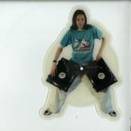 Front View : DMX Krew - GOOD TIME GIRL / DENKI NO MERODI (CUSTOM SHAPE PIC 7 INCH) - Rephlex / CAT086