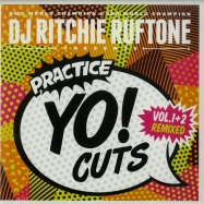 Front View : DJ Ritchie Ruftone - PRACTISE YO CUTS! (WHITE 7 INCH) - Turntable Training Wax / ttw003