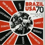 Front View : Various Artists - BRAZIL USA 70 (2LP + MP3) - Soul Jazz / SJRLP428 / 05176411