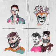 Front View : Various Artists - FCKNG SERIOUS - FIVE YEARS (TRANSPARENT VINYL / GATEFOLD COVER) - FCKNG SERIOUS / FSCO005