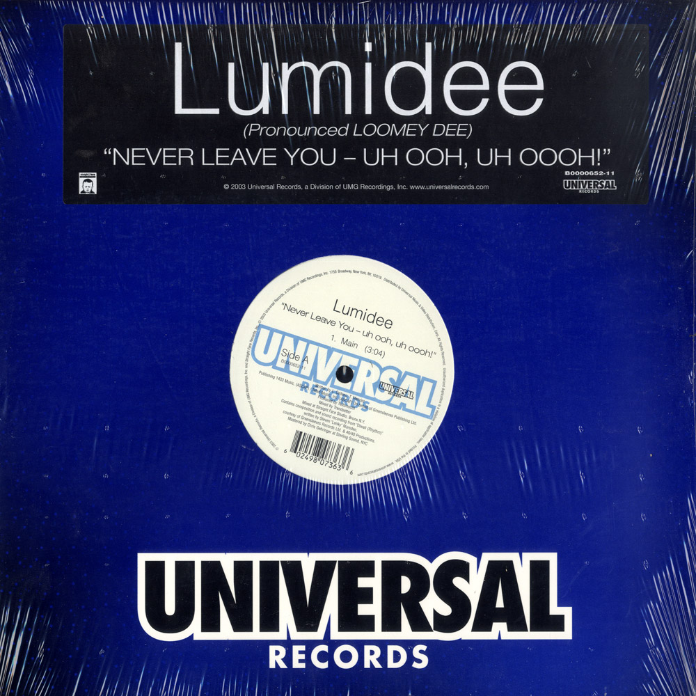 Lumidee - NEVER LEAVE YOU - UH OOH. UH OOH!