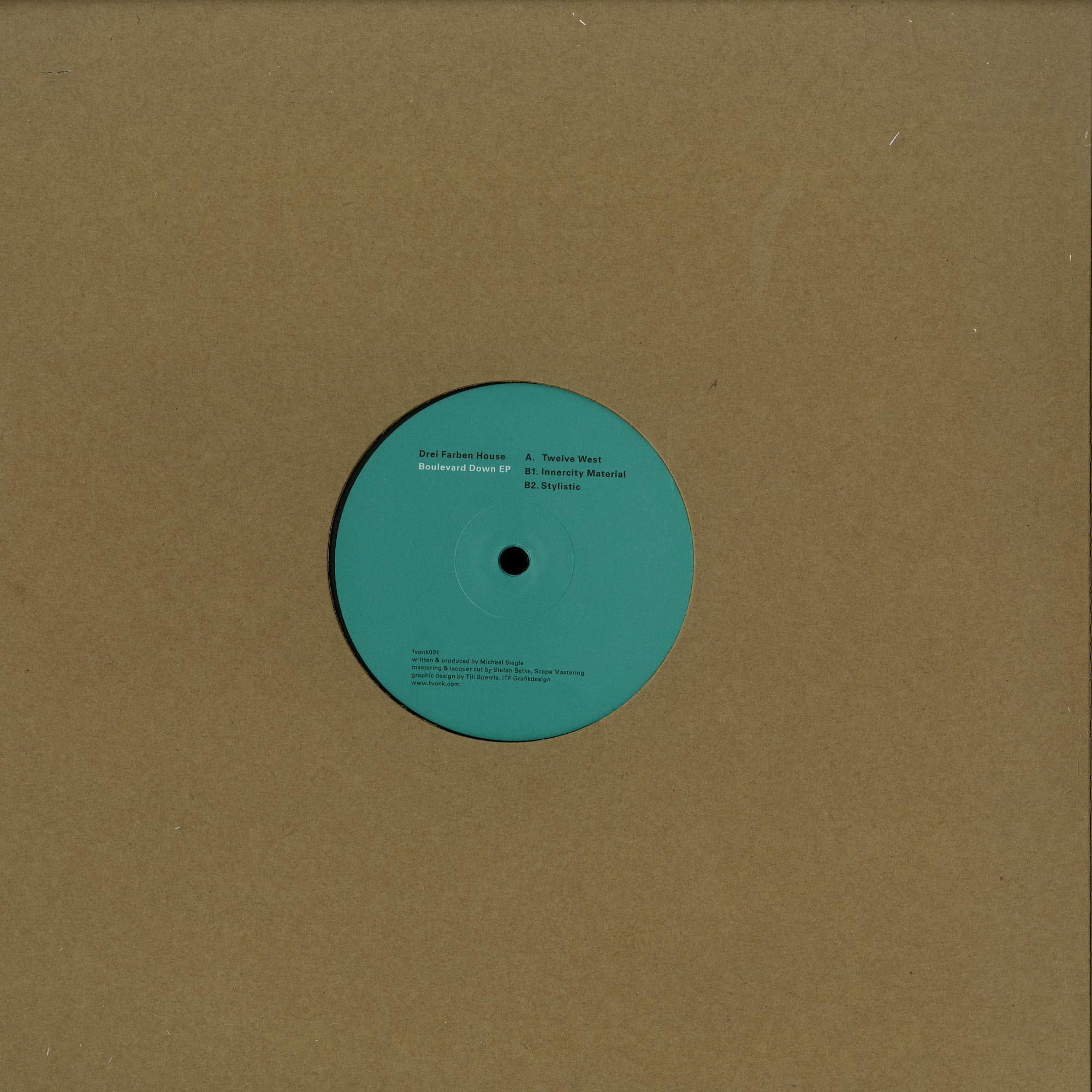Drei Farben House - BOULEVARD DOWN EP