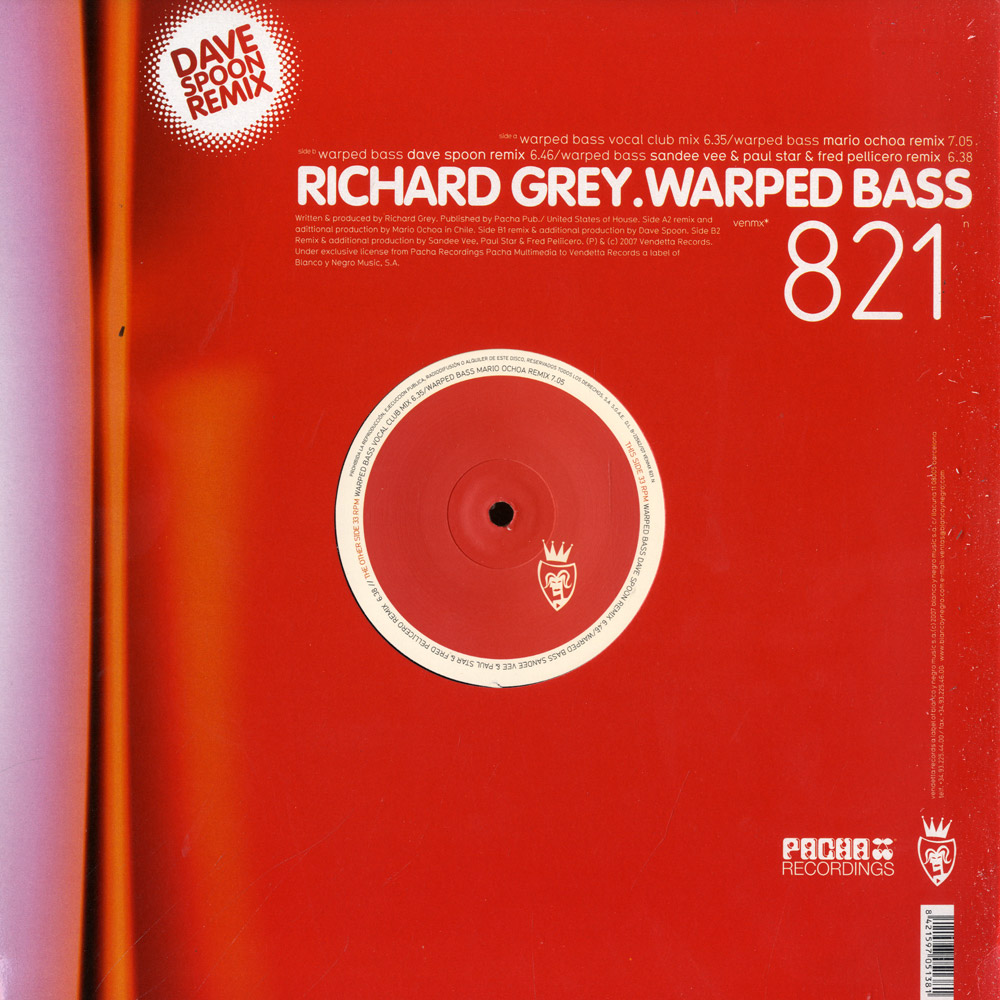 Richard Grey - WARPED BASS - DAVE SPOON REMIX