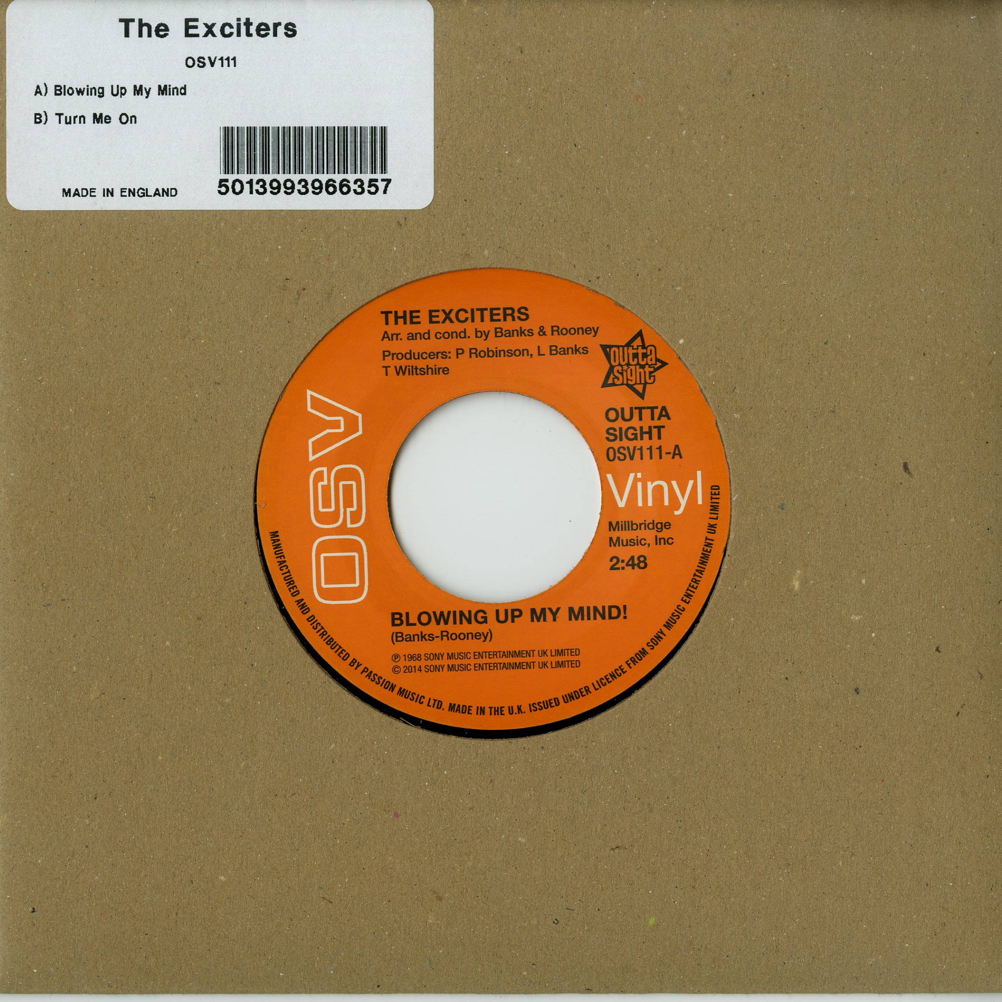 The Exciters - BLOWING UP MY MIND