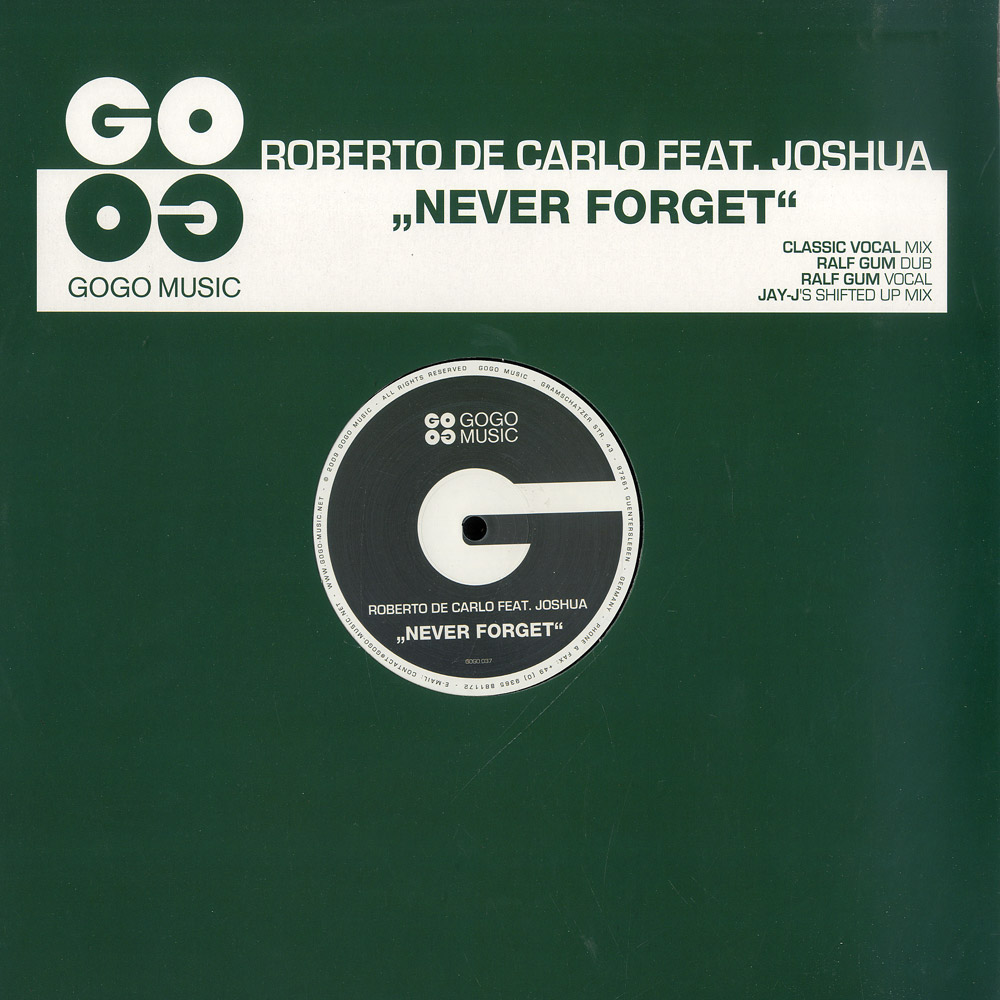 Roberto De Carlo feat Joshua - NEVER FORGET - JAY J REMIX