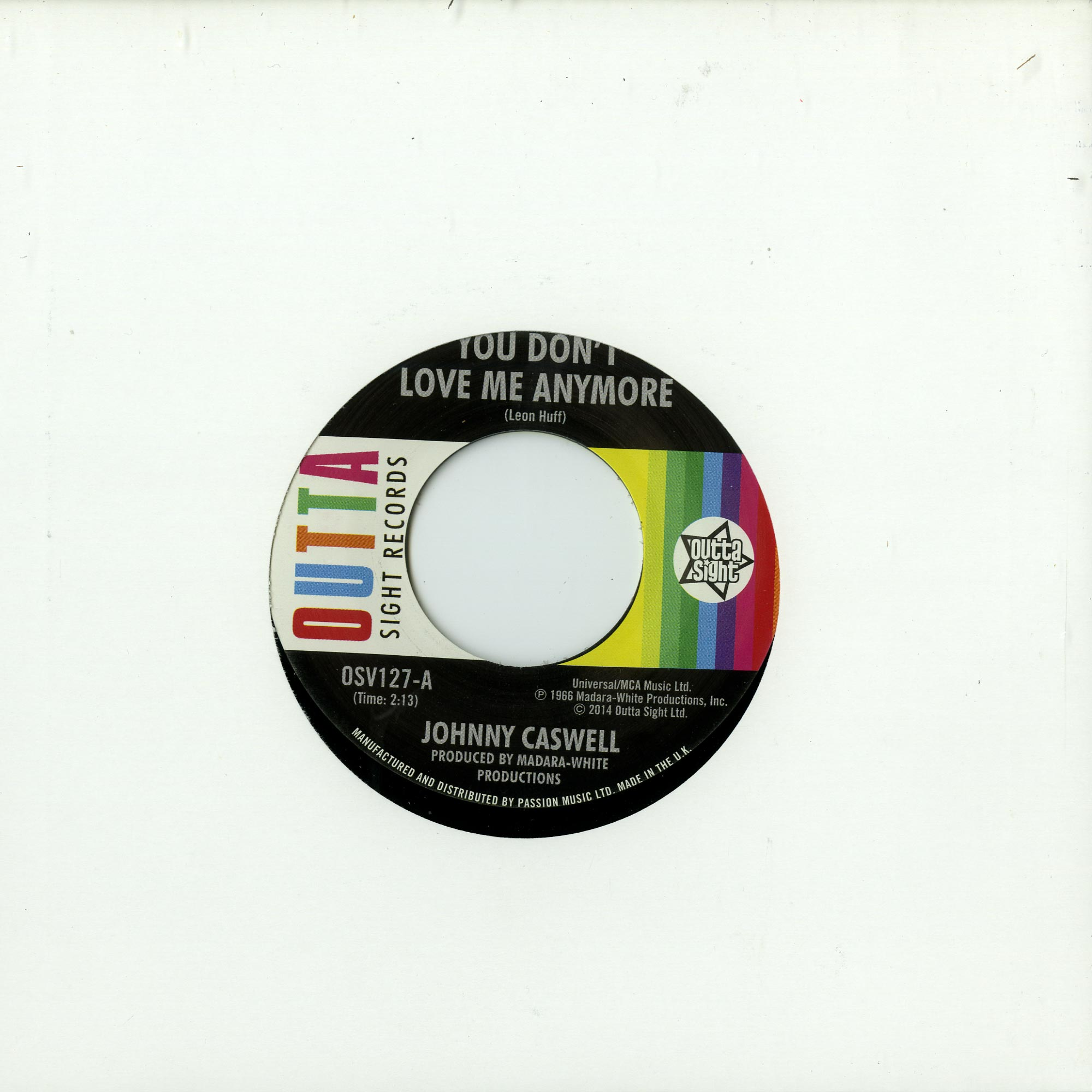 Johnny Caswell - YOU DONT LOVE ME ANYMORE / I.O.U.