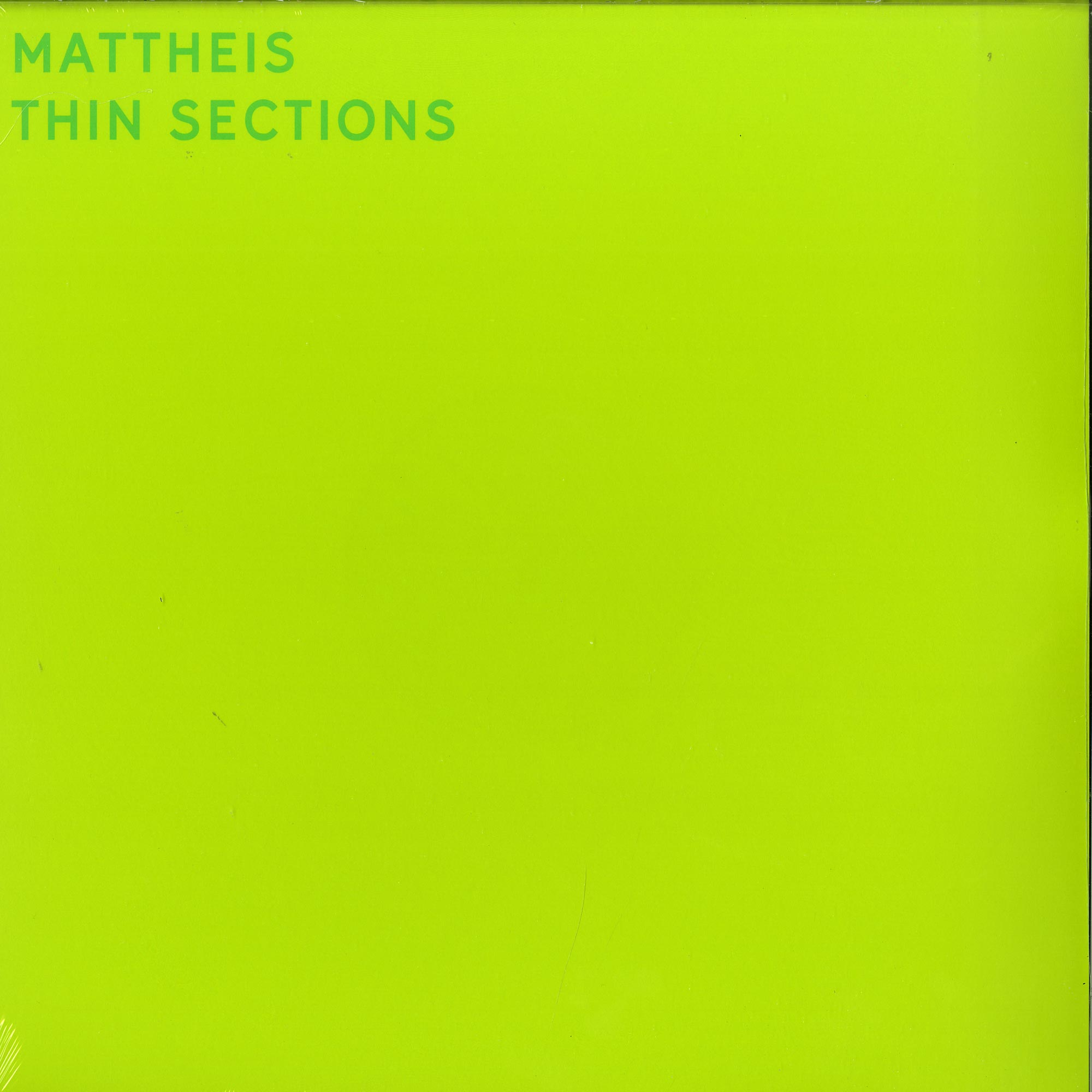 Mattheis - THIN SECTIONS