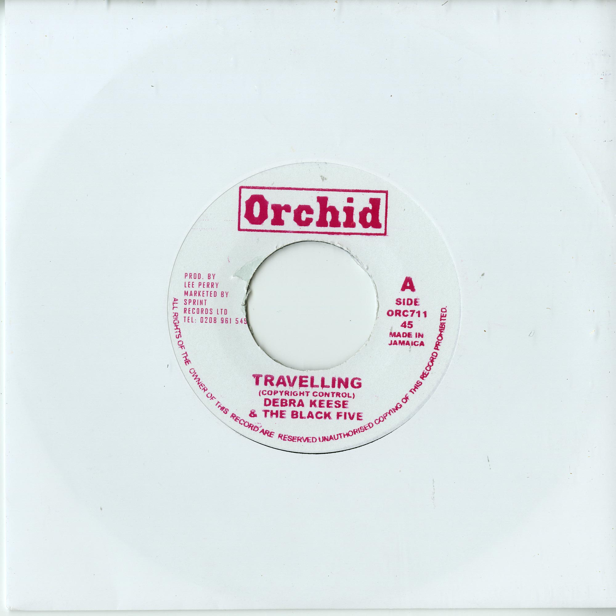 Debra Keese & The Black Five / The Upsetters - TRAVELLING