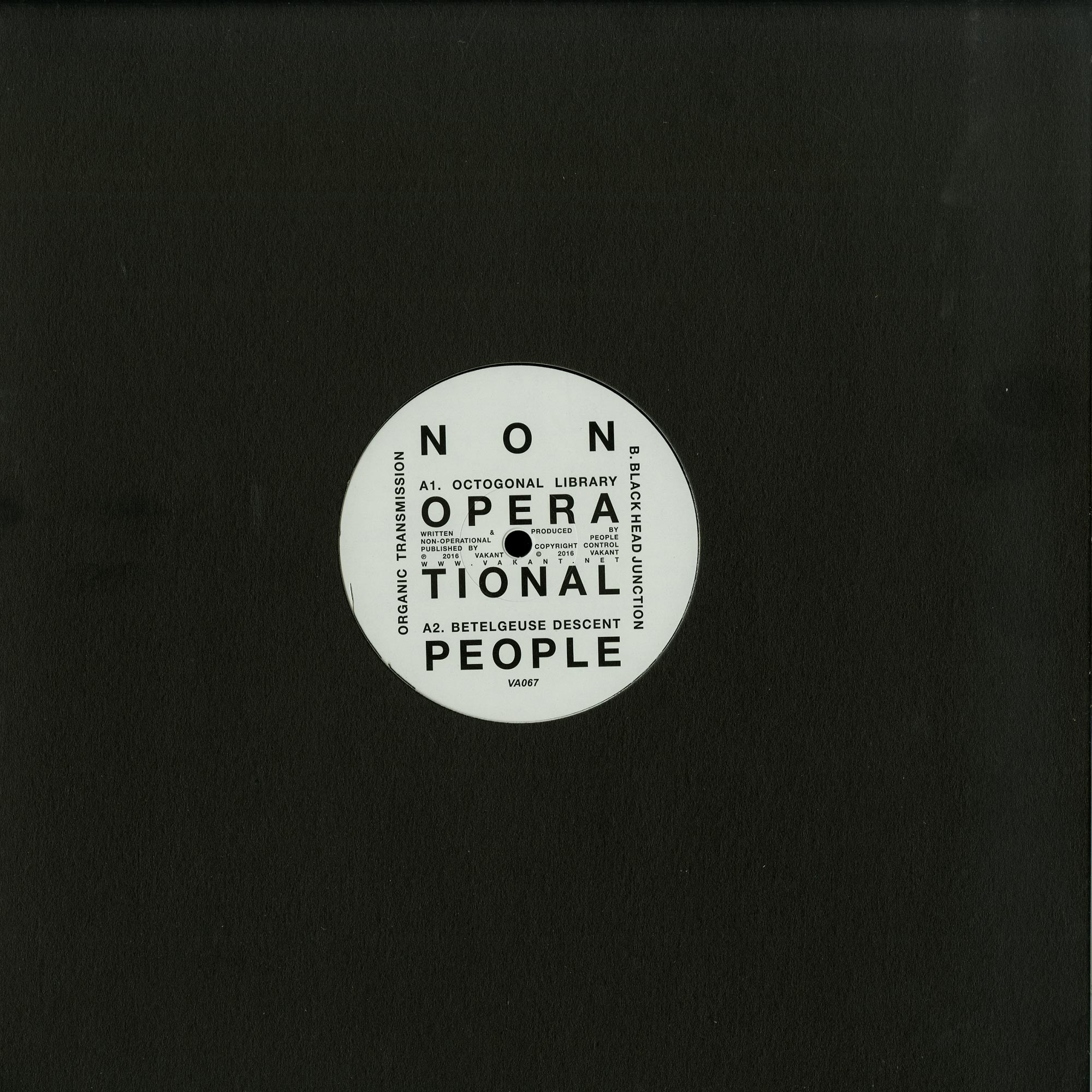 Non-operational People - ORGANIC TRANSMISSIO