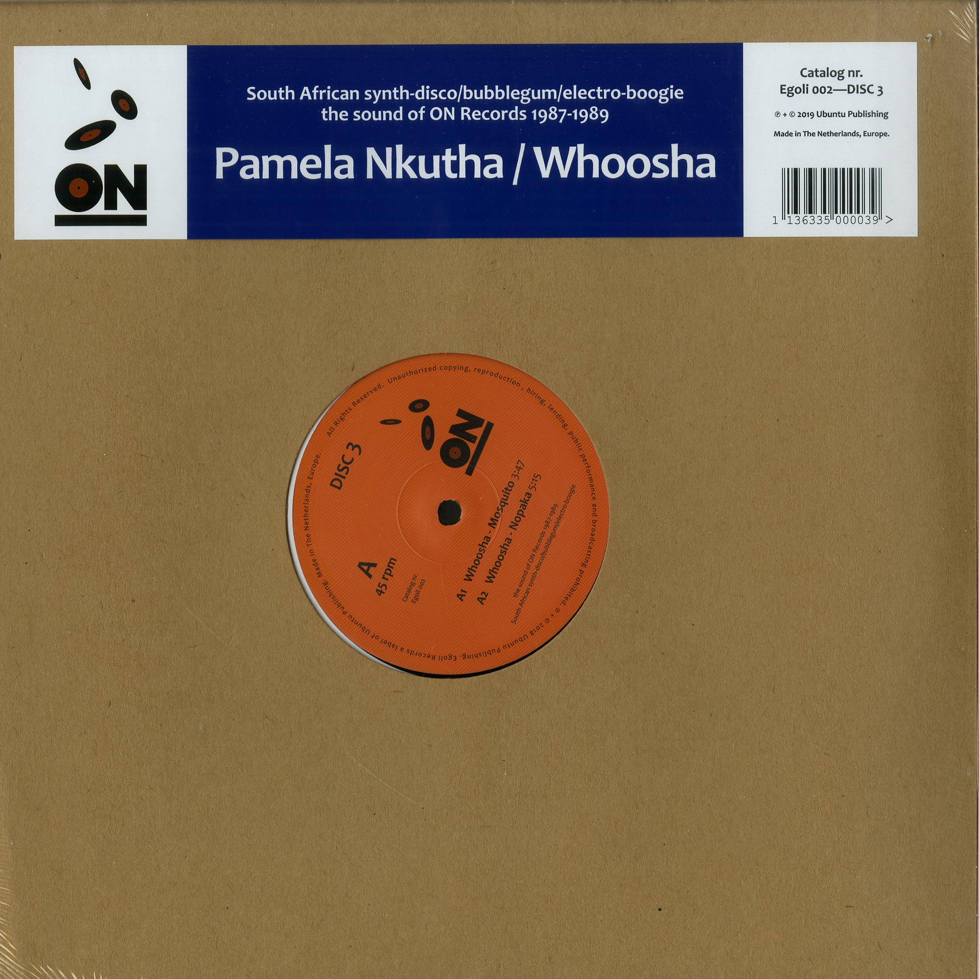 Egoli Records - PAMELA NKUTHA / WHOOSHA