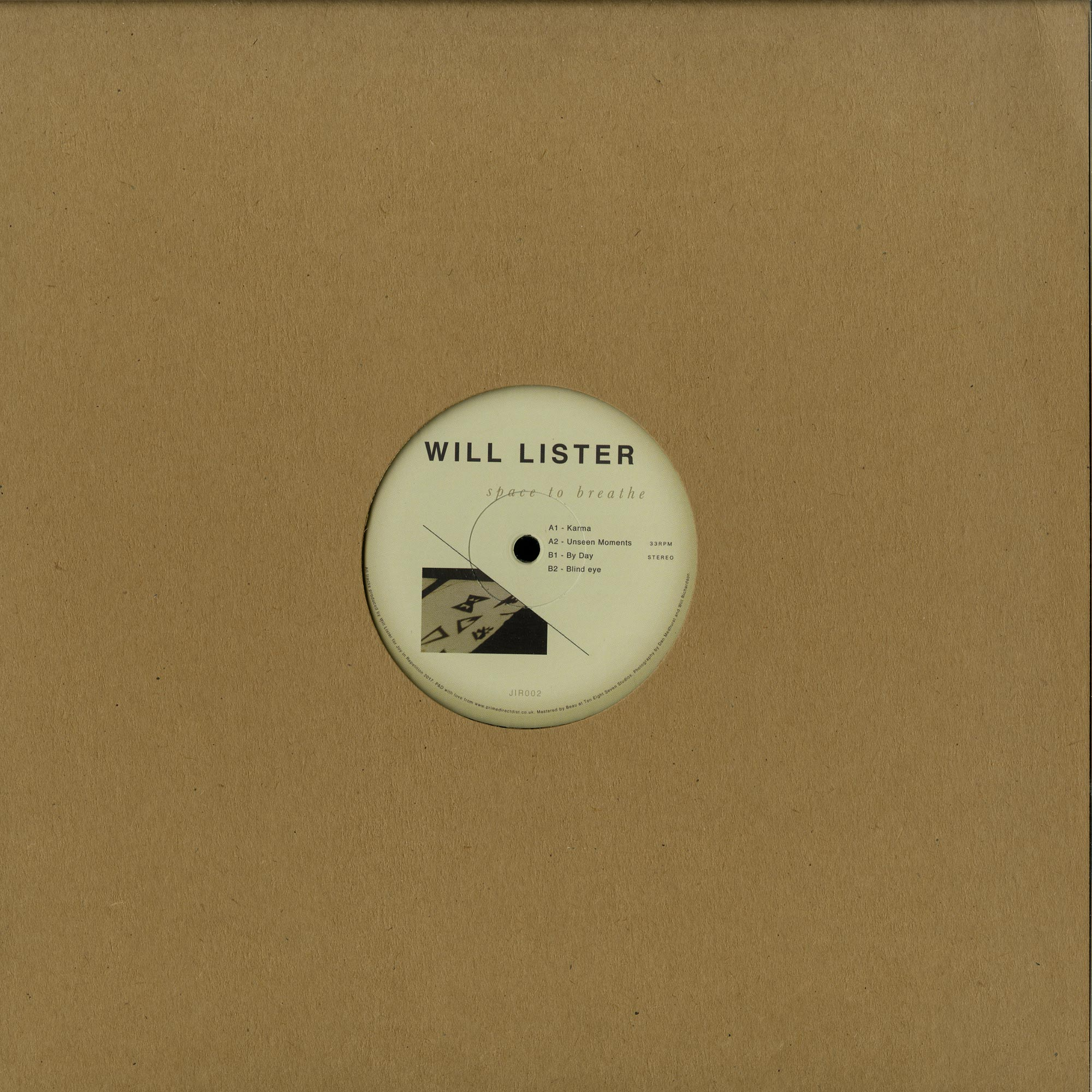 Will Lister - SPACE TO BREATH EP