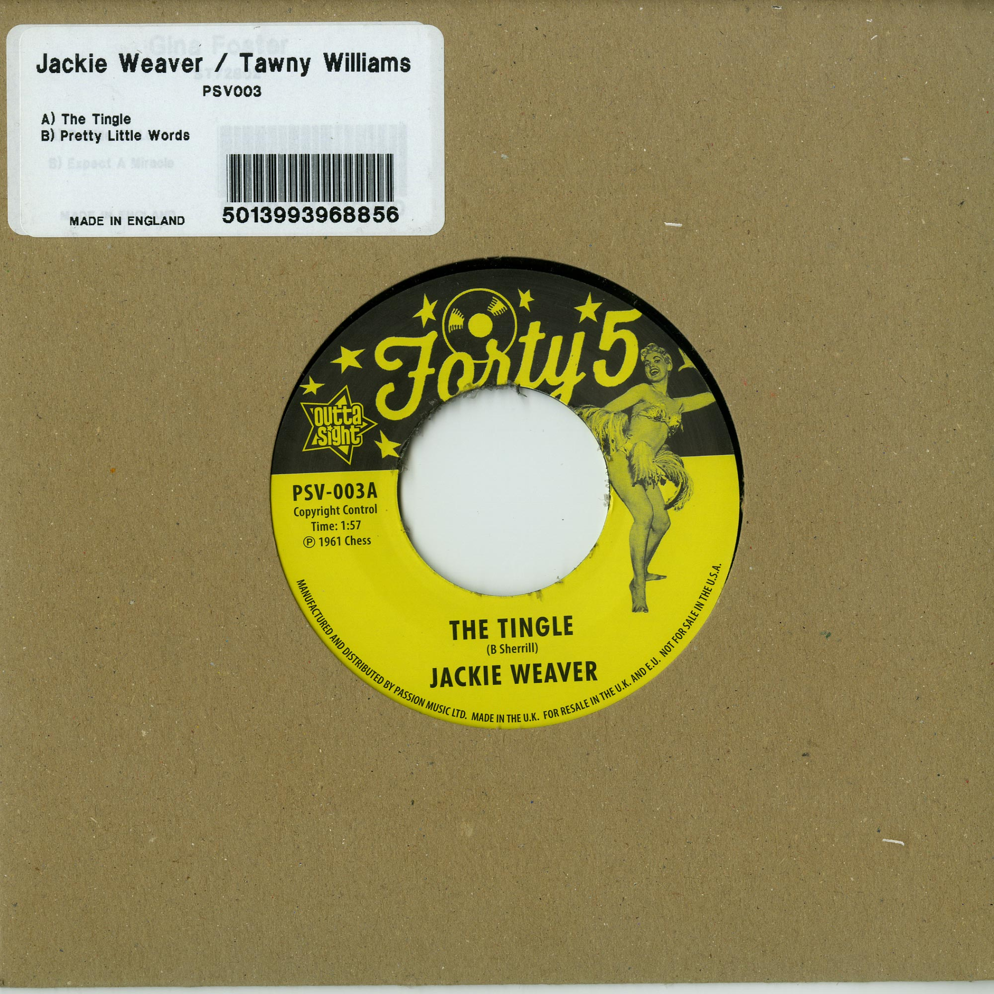 Jackie Weaver / Tawny Williams - THE TINGLE / PRETTY LITTLE WORDS