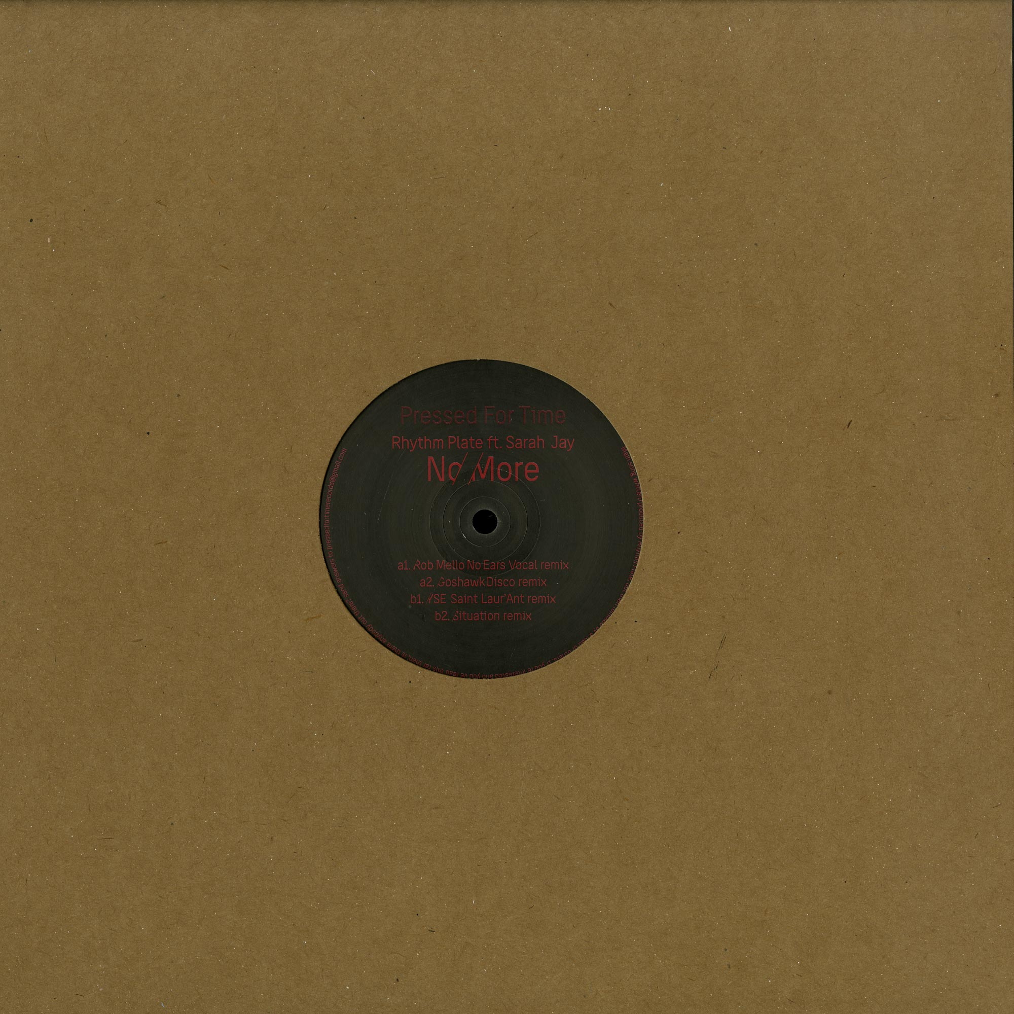 Rhythm Plate Feat. Sarah Jay - NO MORE PART 2