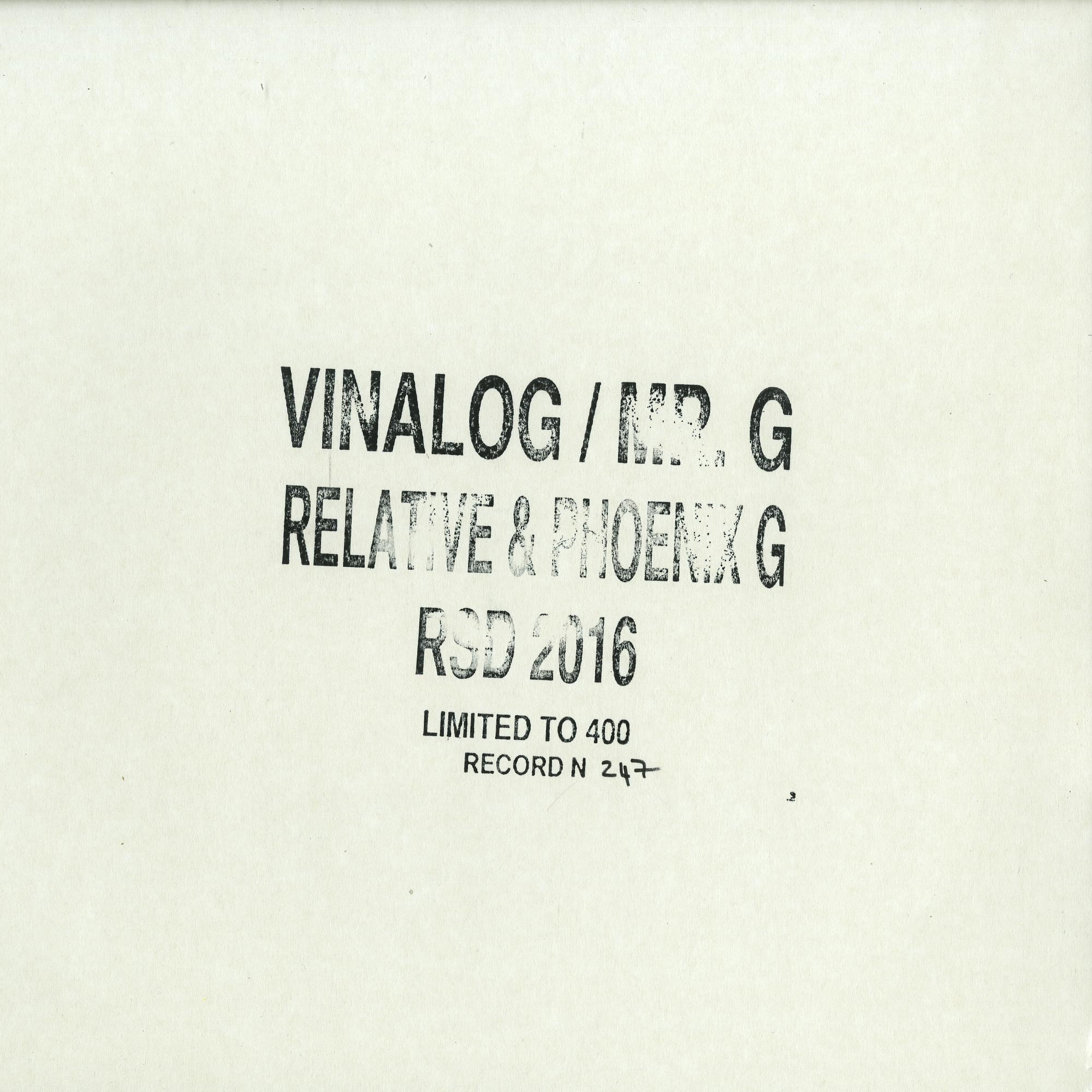 Vinalog / Mr. G - RELATIVE & PHOENIX G 004