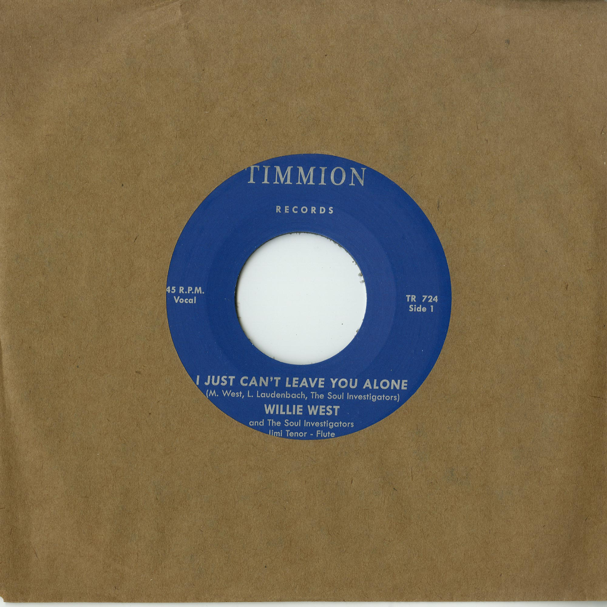 Willie West & The Soul Investigators ft. Jimi Tenor - I JUST CAN T LEAVE YOU ALONE