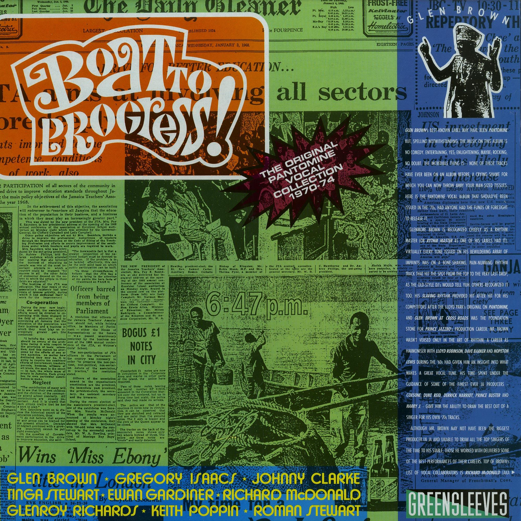 Glen Brown - THE SINGERS 1970-1974 BOAT TO PROGRESS
