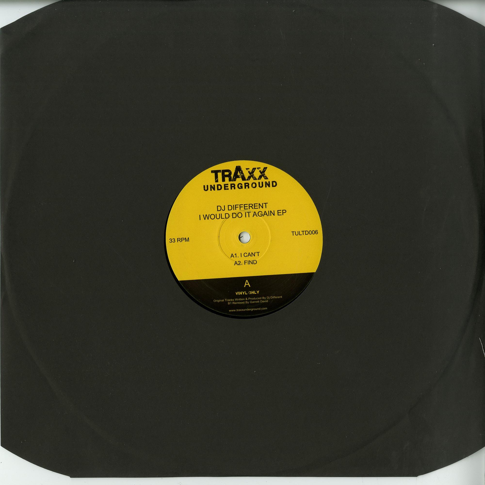 DJ Different - I WOULD DO IT AGAIN EP , INCL. GARRETT DAVID REMIX