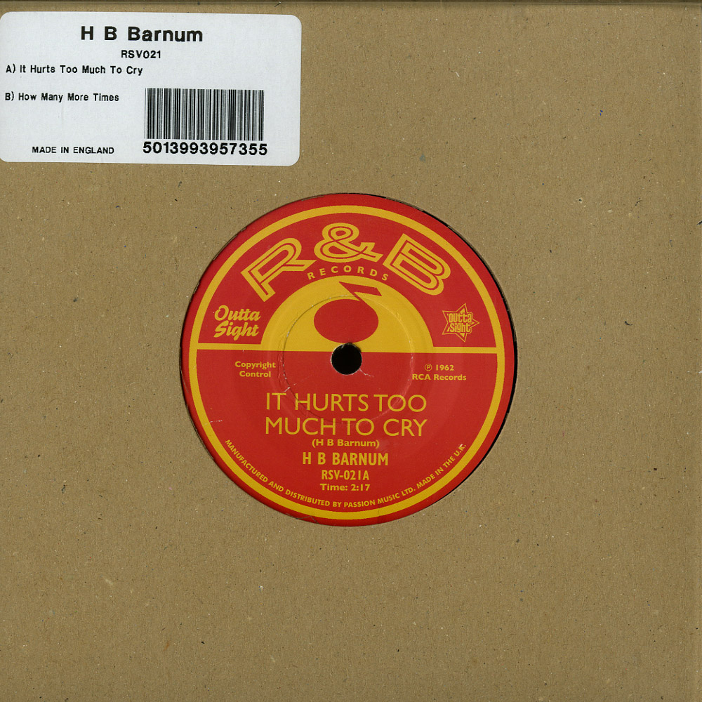 H B Barnum - IT HURTS TOO MUCH TO CRY