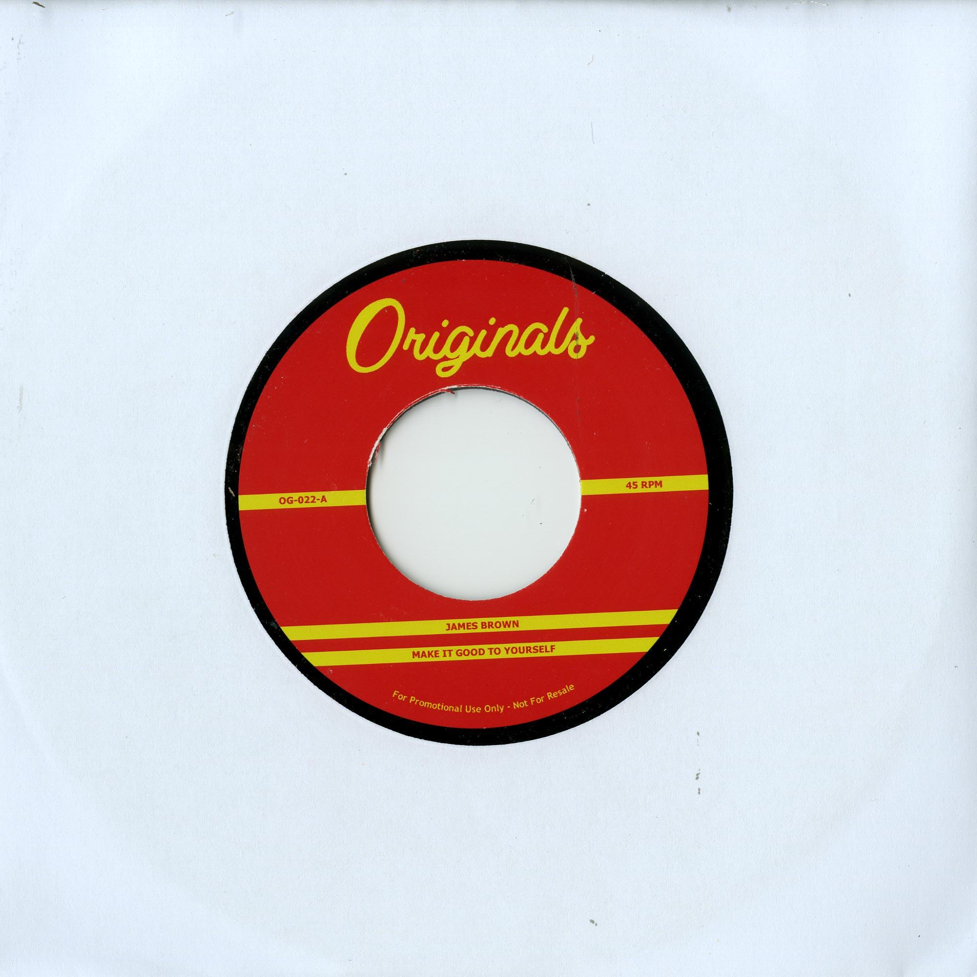 James Brown - MAKE IT GOOD TO YOOURSELF