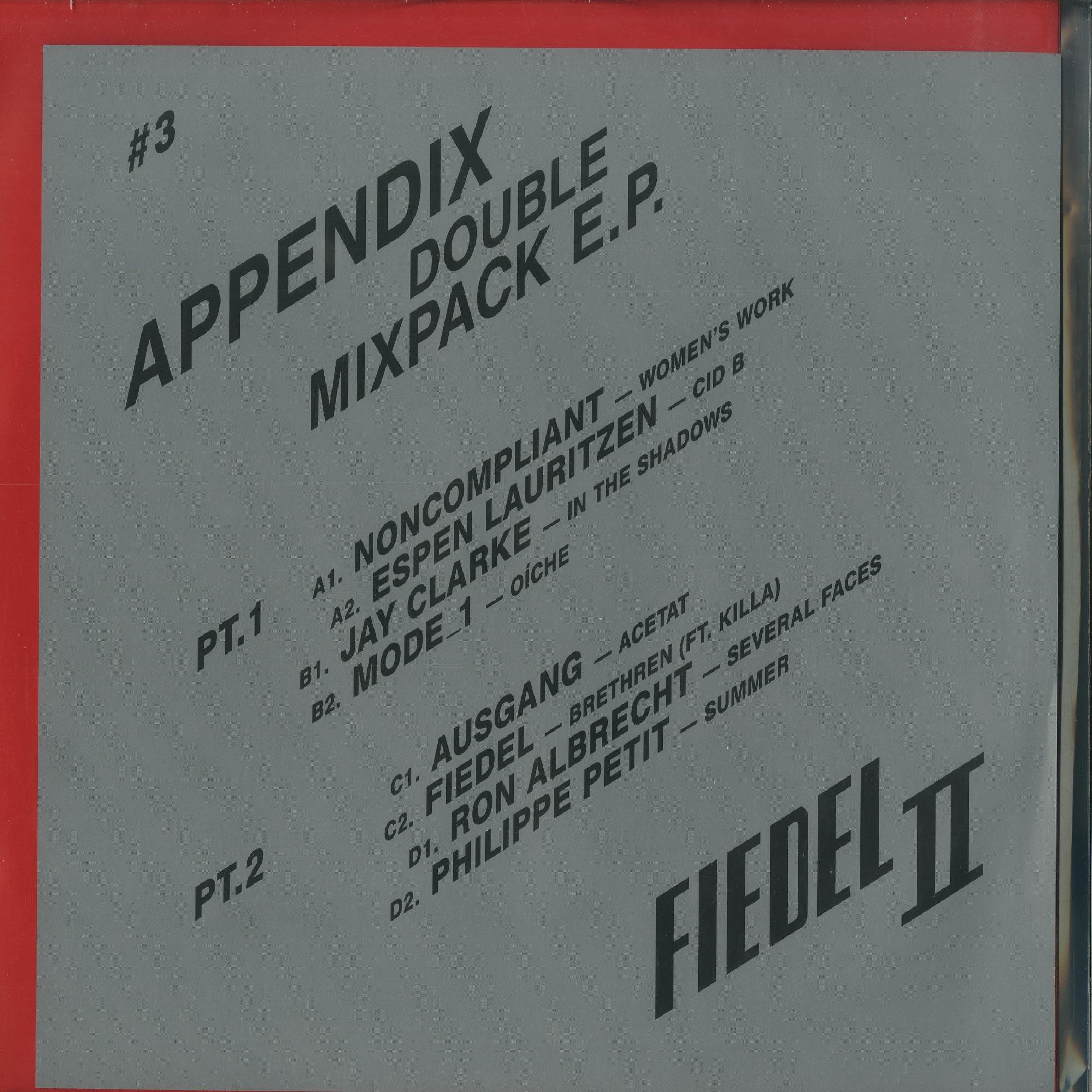 Various Artists - APPENDIX - DOUBLE MIXPACK E.P