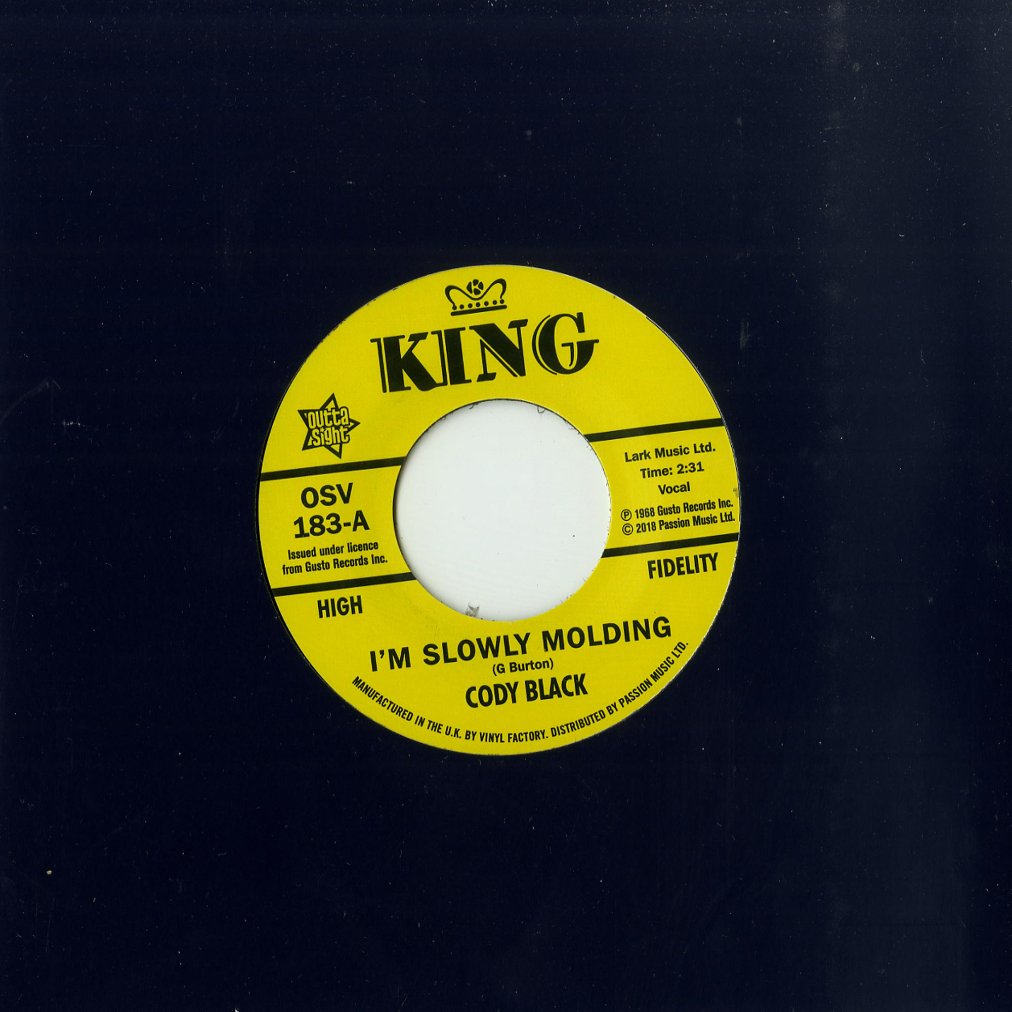 Cody Black / Charles Spurling - I M SLOWLY MOLDING / SHE CRIED JUST A MINUTE