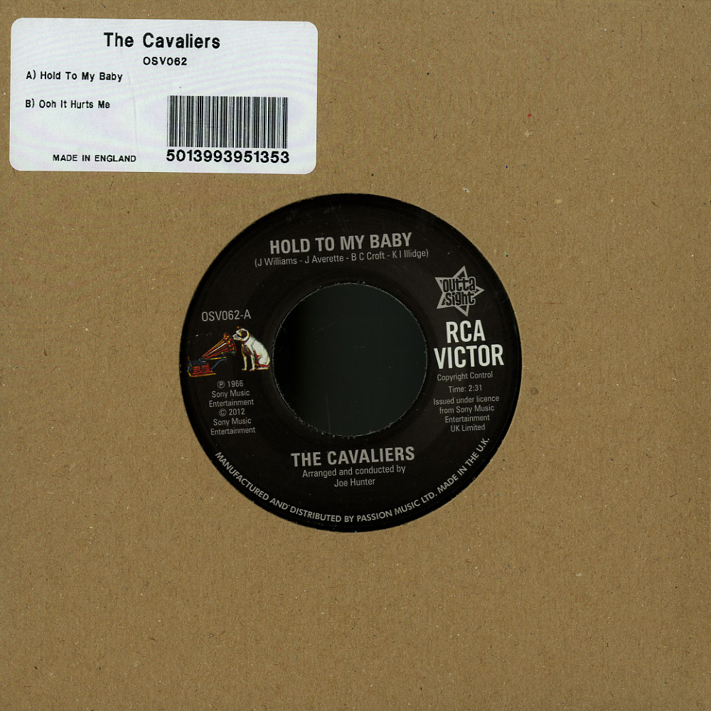 The Cavaliers - HOLD TO MY BABY / OOH IT HURTS ME