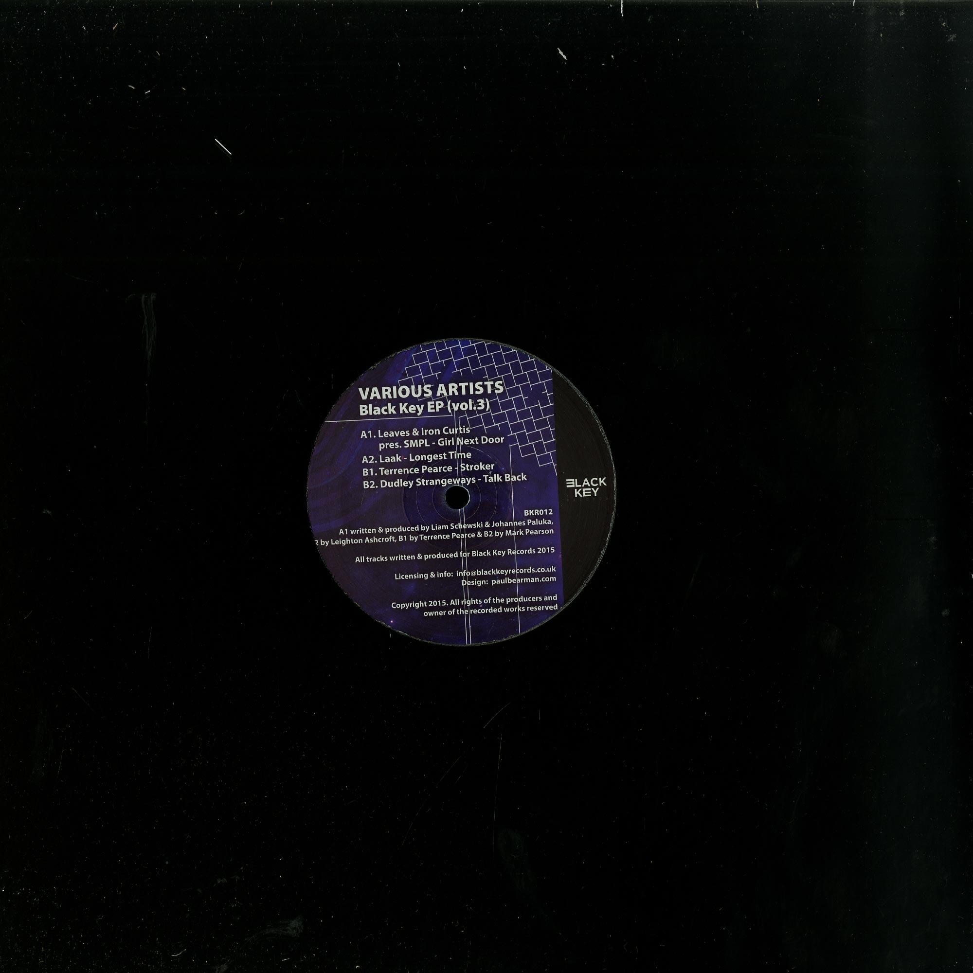 Iron Curtis /leaves/ Laak/ Terrence Pearce/ Dudley Strangeways - BLACK KEY EP VOL.3