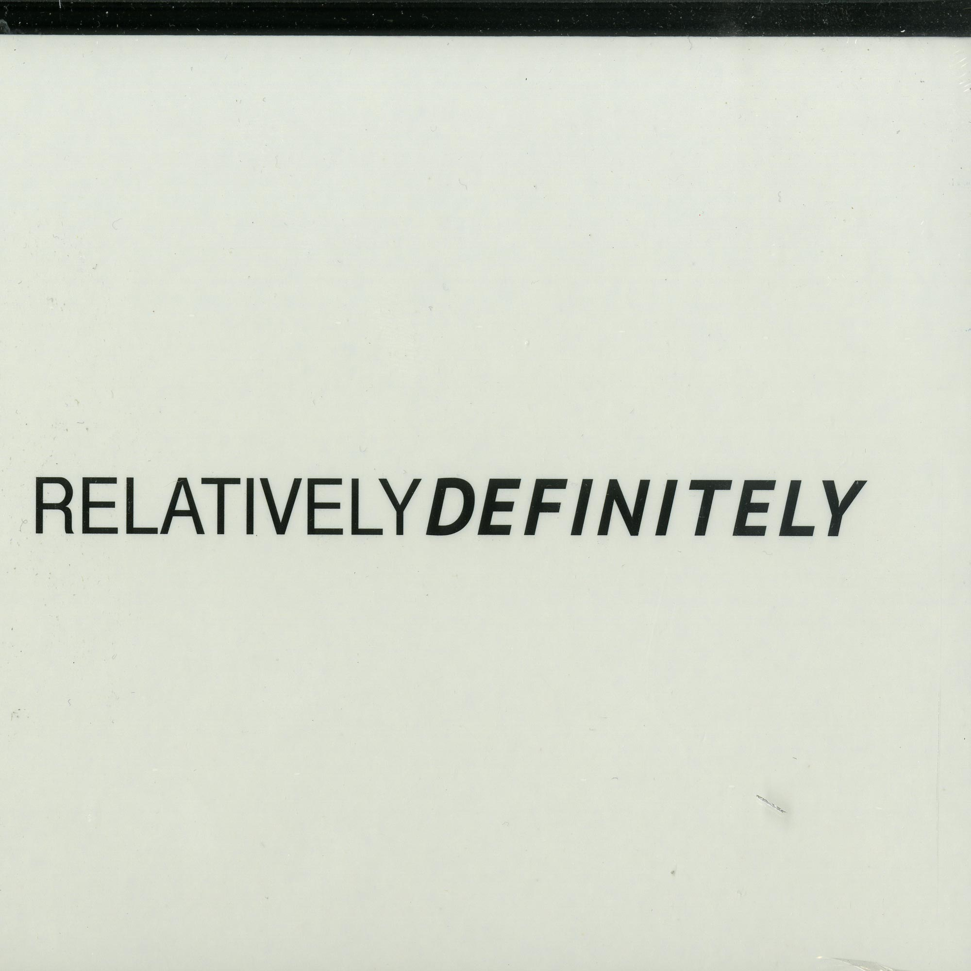 Oliver Schories - RELATIVELY DEFINITELY
