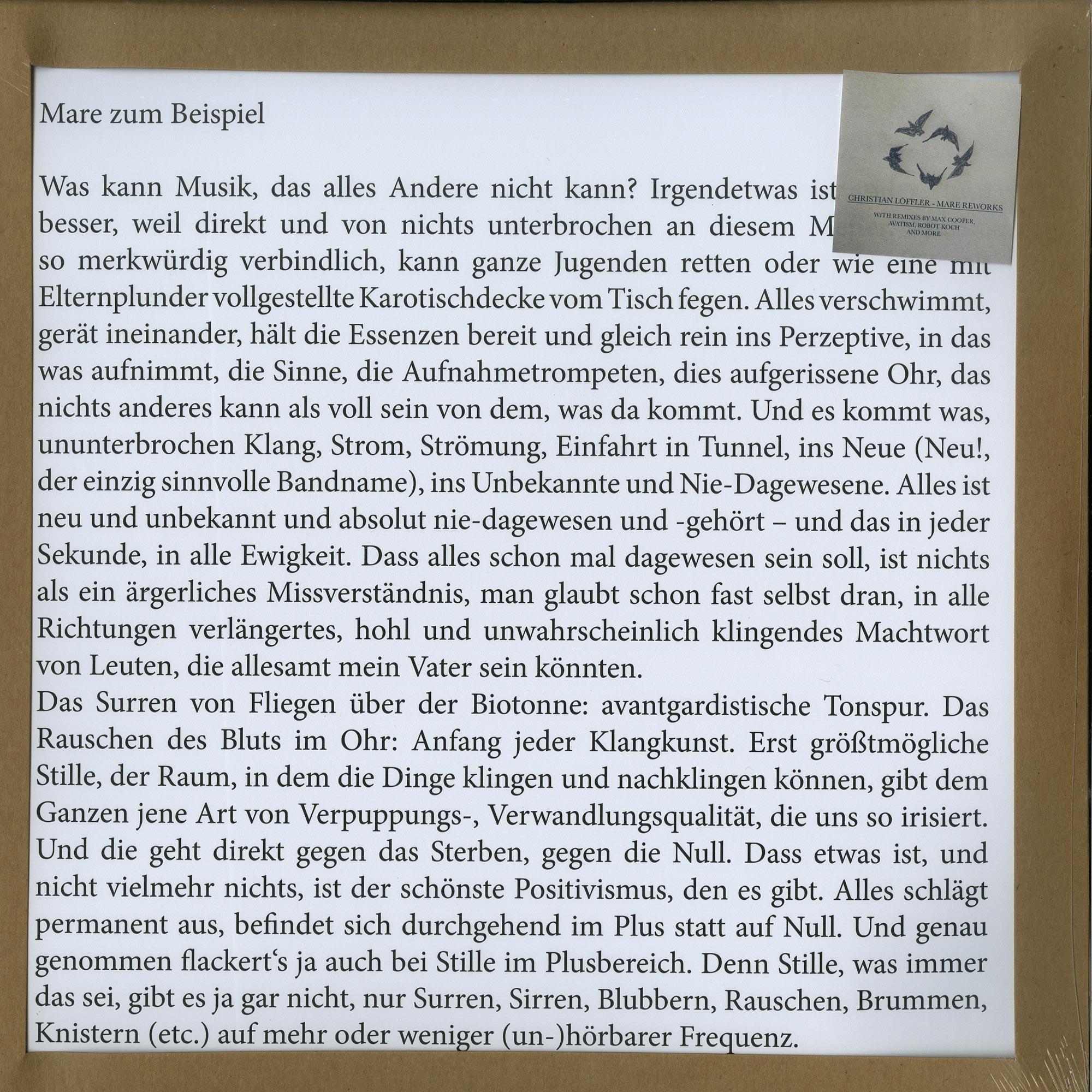 Christian Loeffler - MARE REWORKS