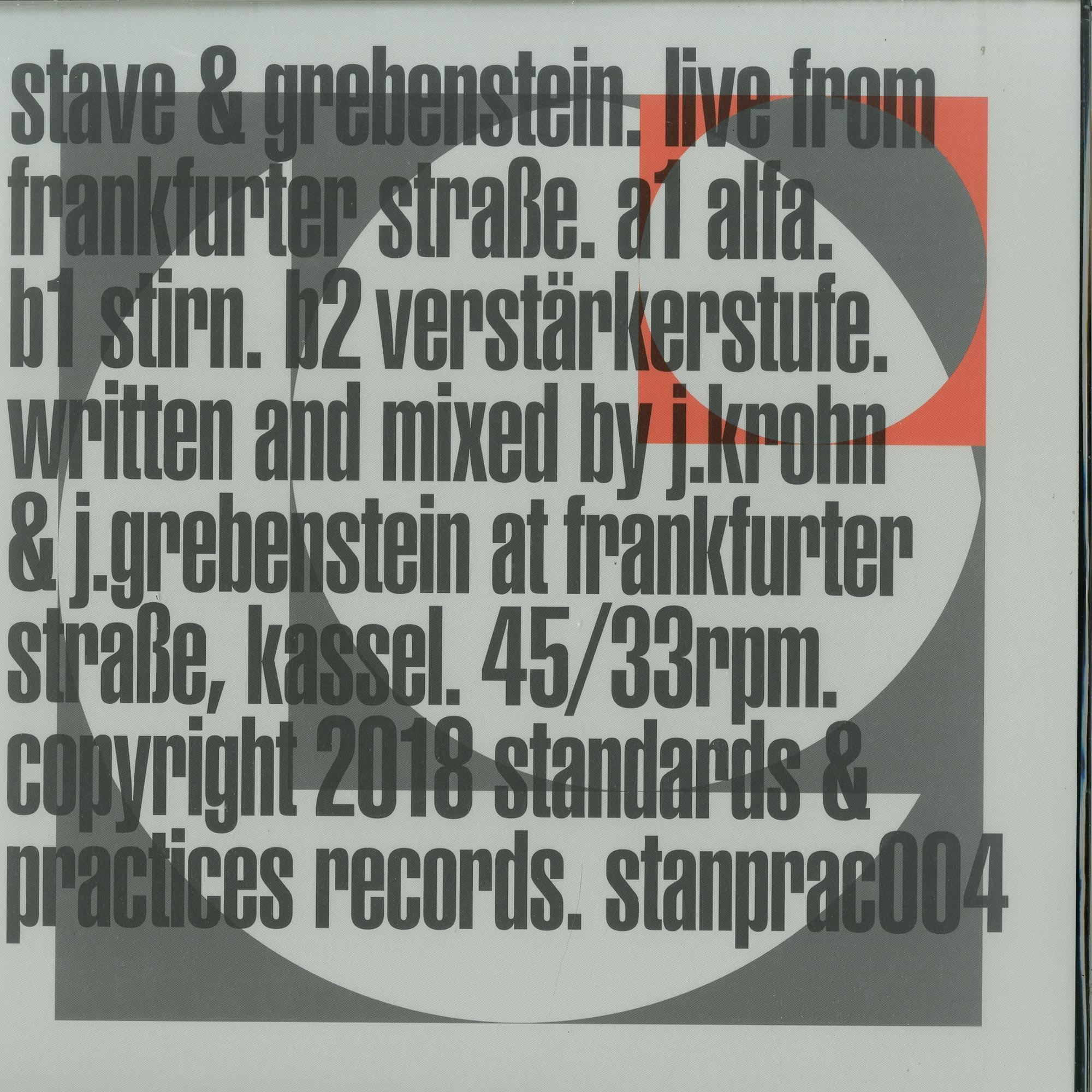 Stave & Grebenstein - LIVE FROM FRANKFURTER STRASSE