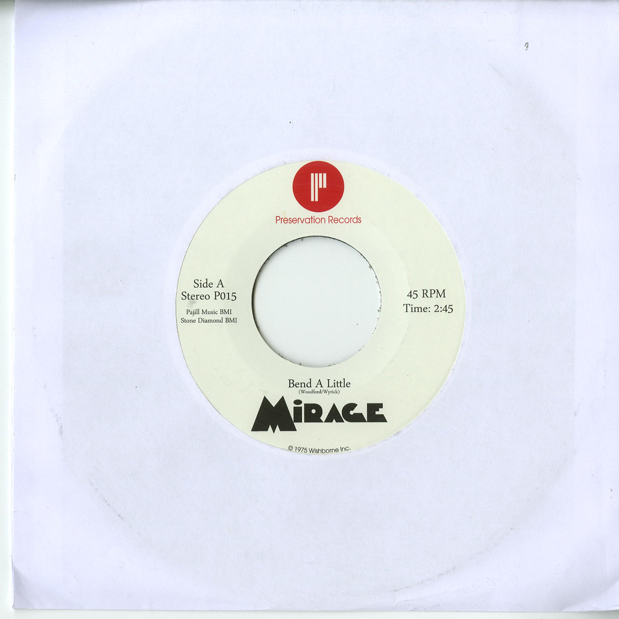 Mirage - BEND A LITTLE / I VE GOT THE NOTION