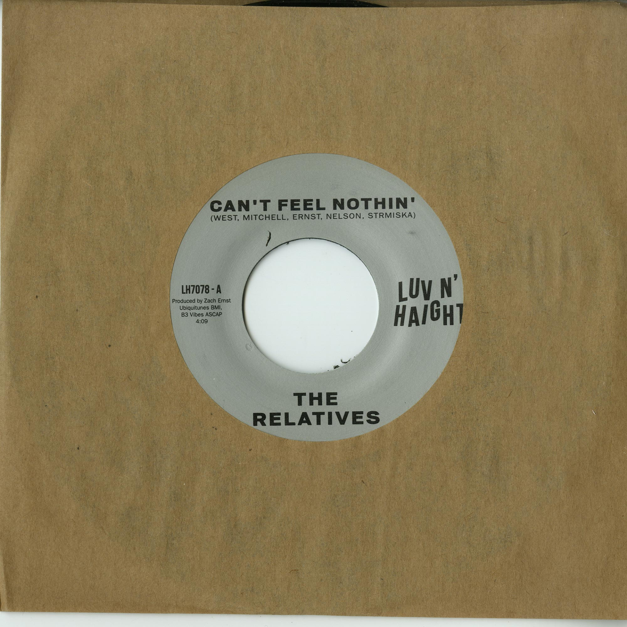 The Relatives - CAN T FEEL NOTHIN / NO MAN IS AN ISLAND