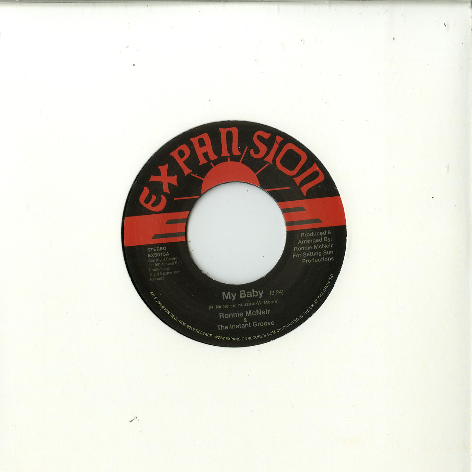 Ronnie McNeir - MY BABY / HOLD ON