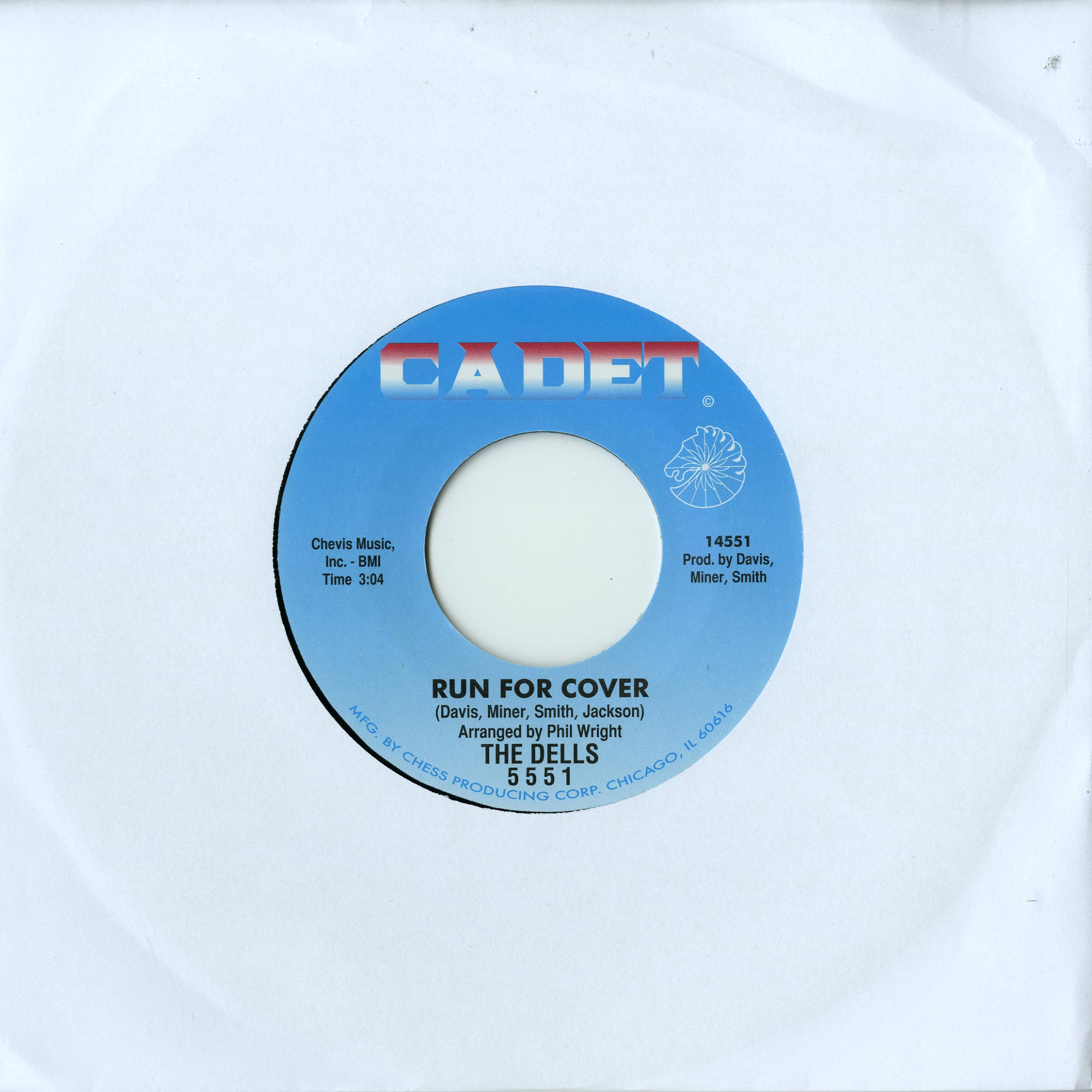 The Valentinos / The Dells - SWEETER THAN THE DAY BEFORE / RUN FOR COVER