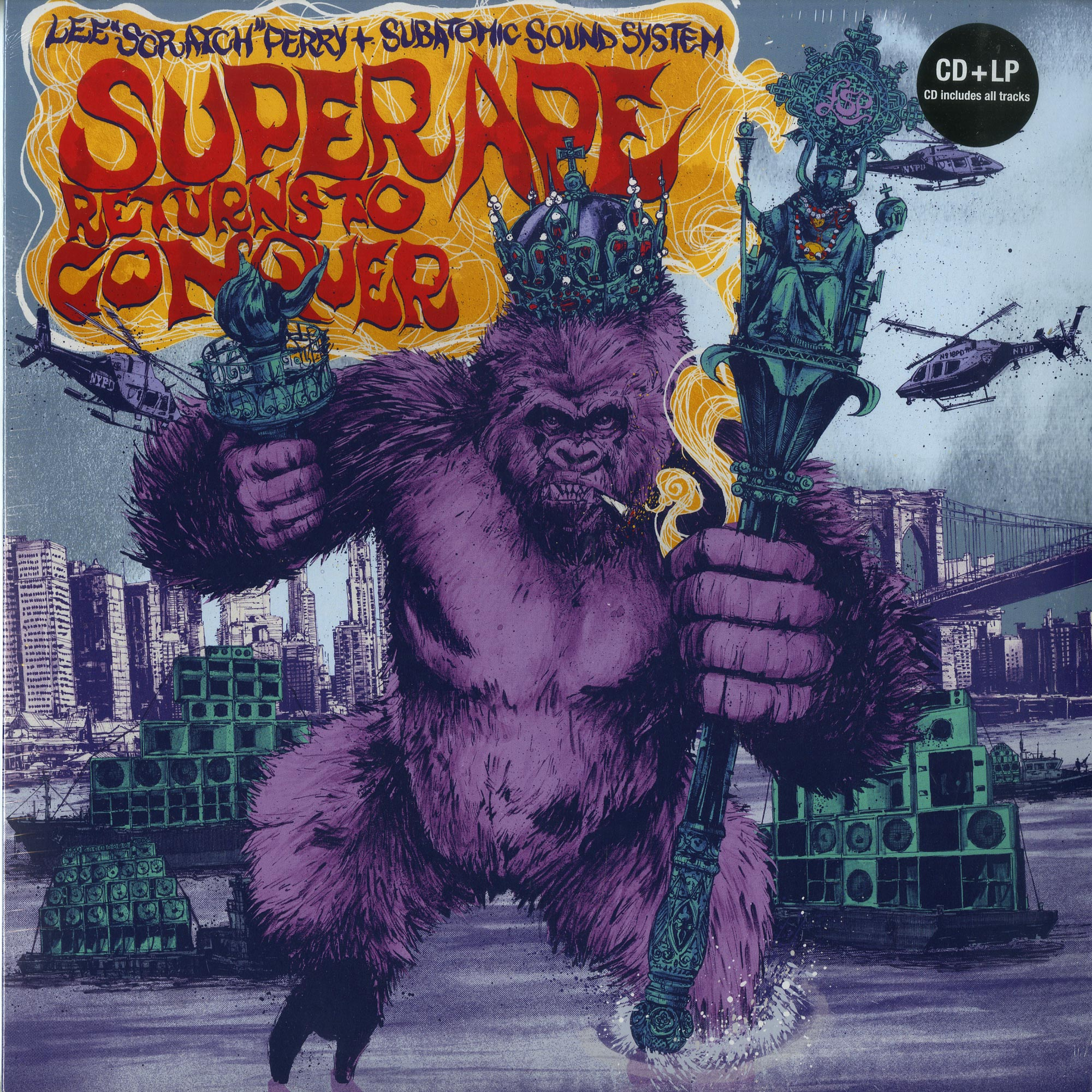 Lee Scratch Perry & Subatomic Sound System - SUPER APE RETURNS TO CONQUER