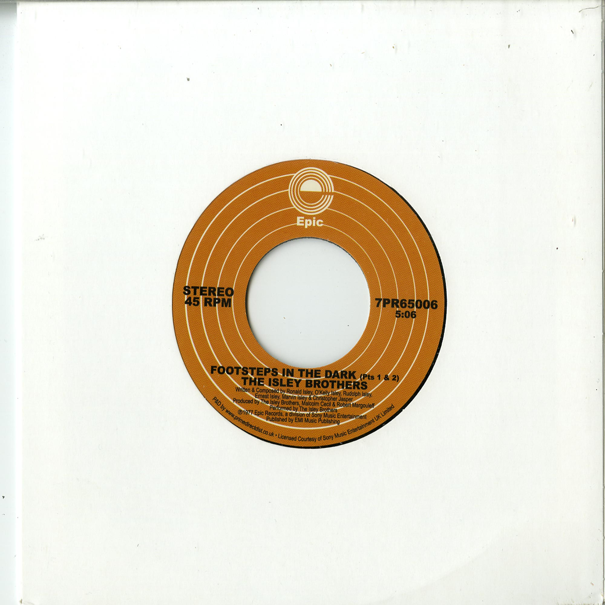 The Isley Brothers - FOOTSTEPS IN THE DARK, PTS. 1 & 2 / BETWEEN THE SHEETS