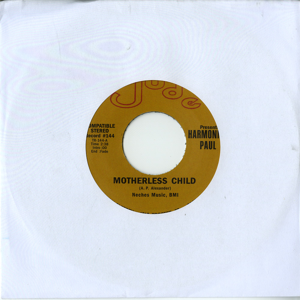 Harmonica Paul - MOTHERLESS CHILD