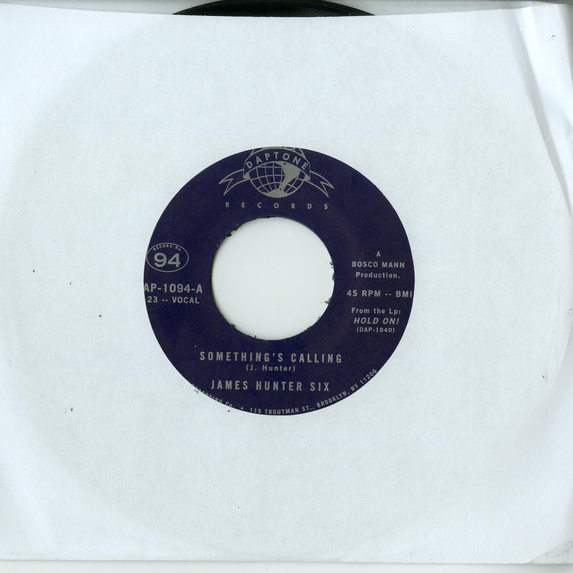 The James Hunter Six - SOMETHING S CALLING / TALKIN BOUT MY LOVE