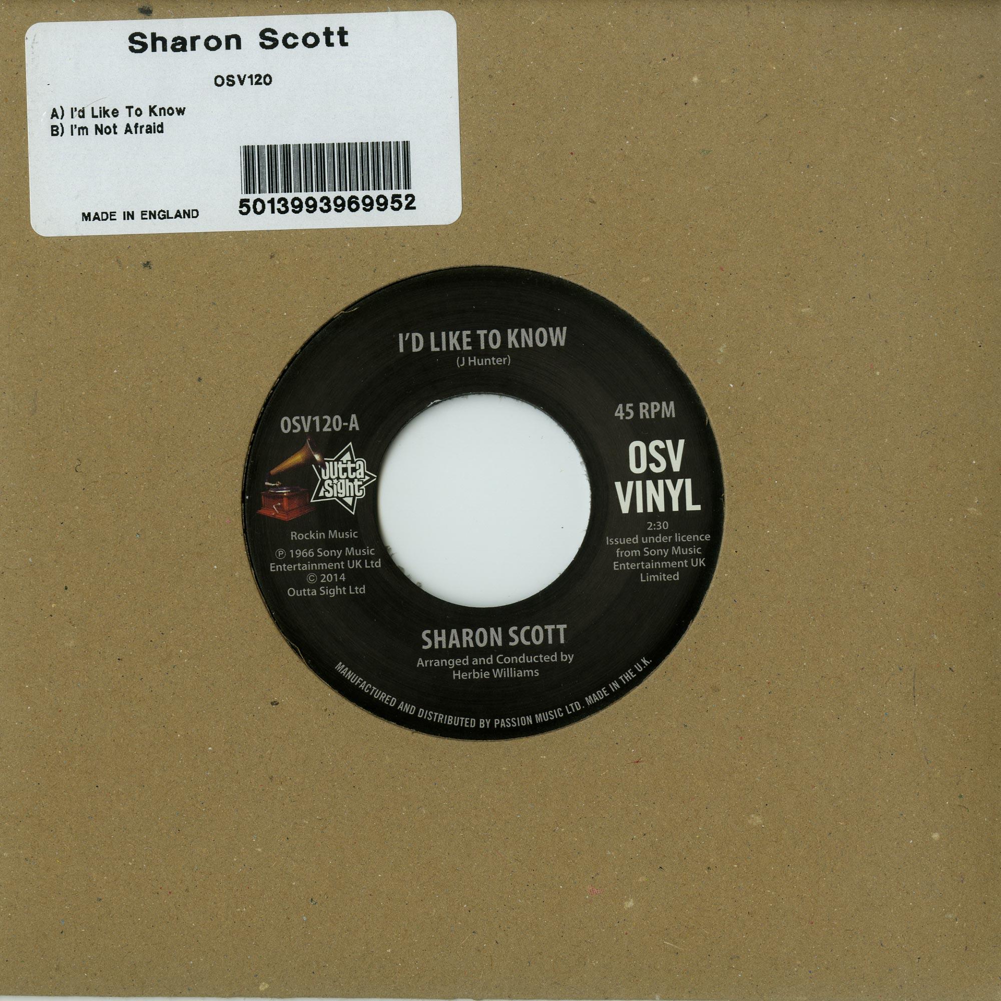 Sharon Scott - ID LIKE T O KNOW/IM NOT
